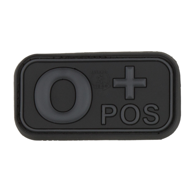 Parche - 3D TAP grupo sanguíneo 0 Pos blackops