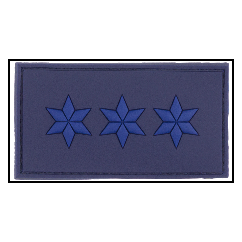 Parche - 3D Insignia de rango Polizeiobermeister azul policía
