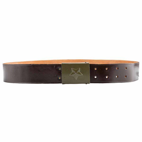 Cinturón checo de cuero marrón