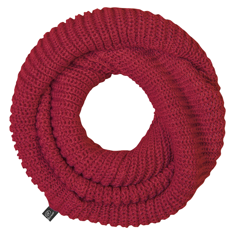 Bufanda tubo Brandit de punto roja