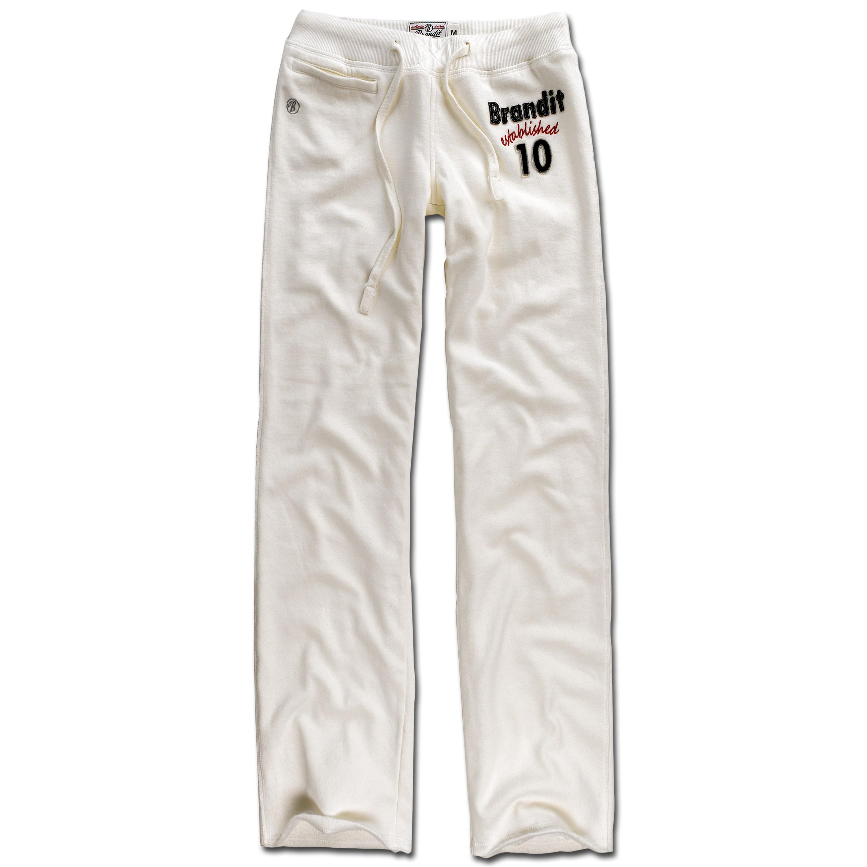 Pantalón deportivo Brandit Ladies Sporty Sweatpants I blanco