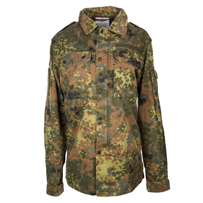 Camisa de campo BW flecktarn usada