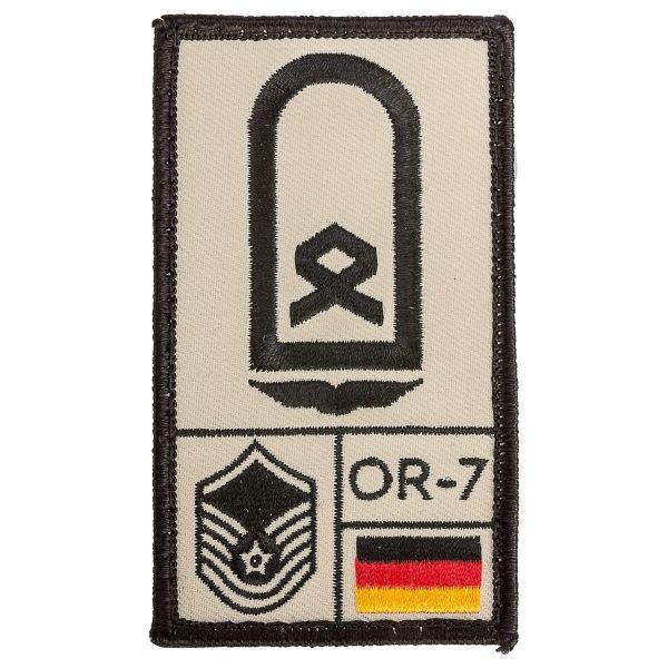 Parche Café Viereck Rank Hauptfeldwebel Luftwaffe sand
