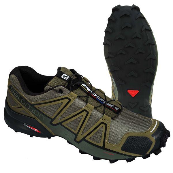 Calzado Salomon Speedcross 4 verde oliva negro