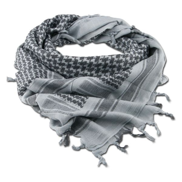 Shemagh gris/negro 110 x 110 cm