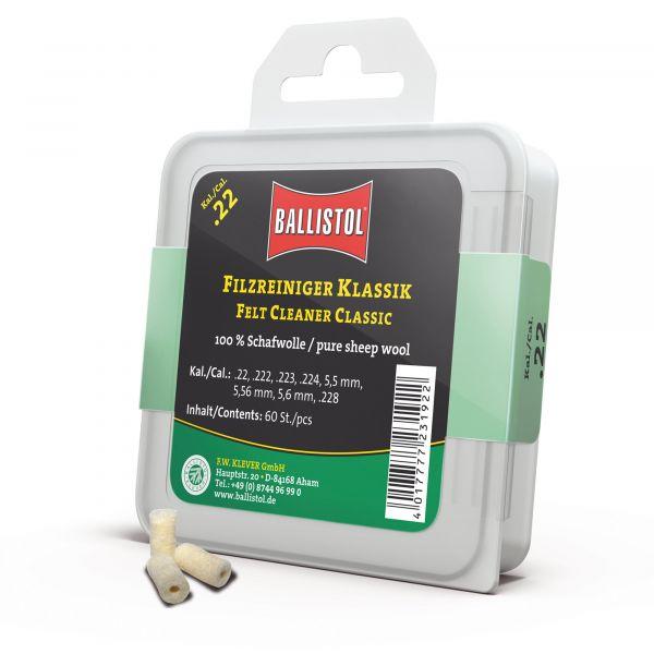 Ballistol Tapón de limpieza fieltro clásico cal. .22 60 uds.