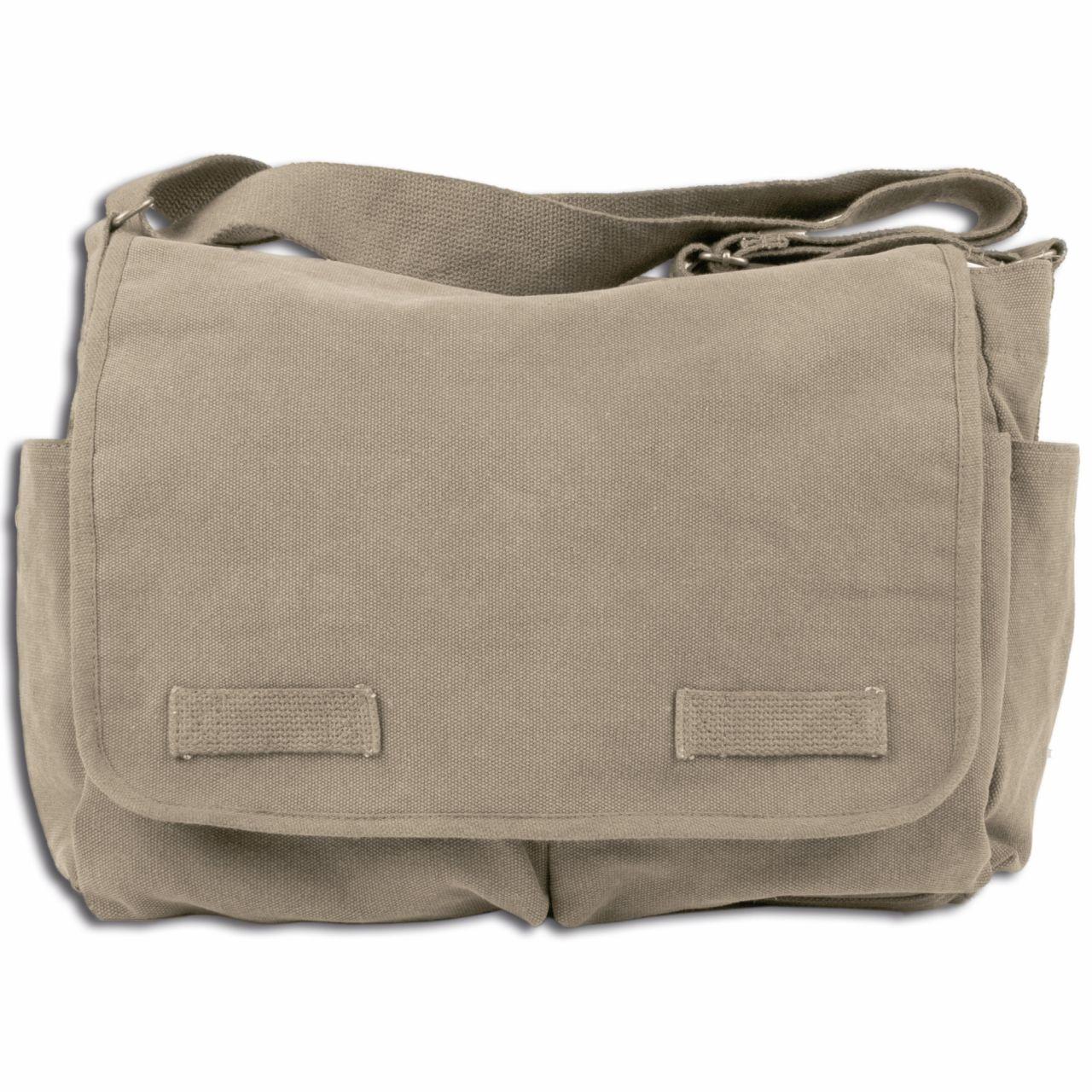 Bolsa bandolera Messenger Bag Classic caqui
