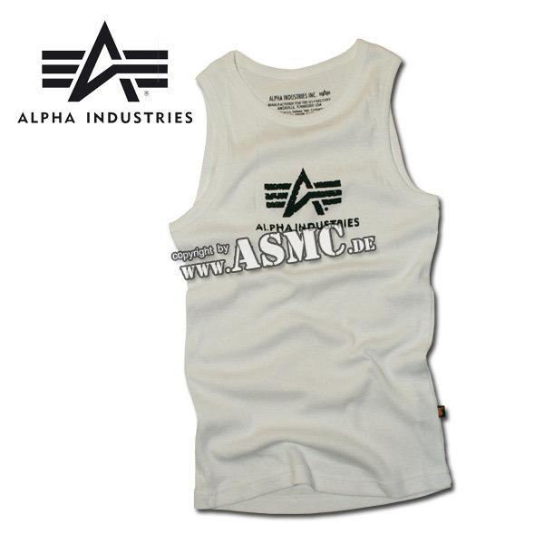 Camiseta sin mangas Alpha Logo blanca/negra