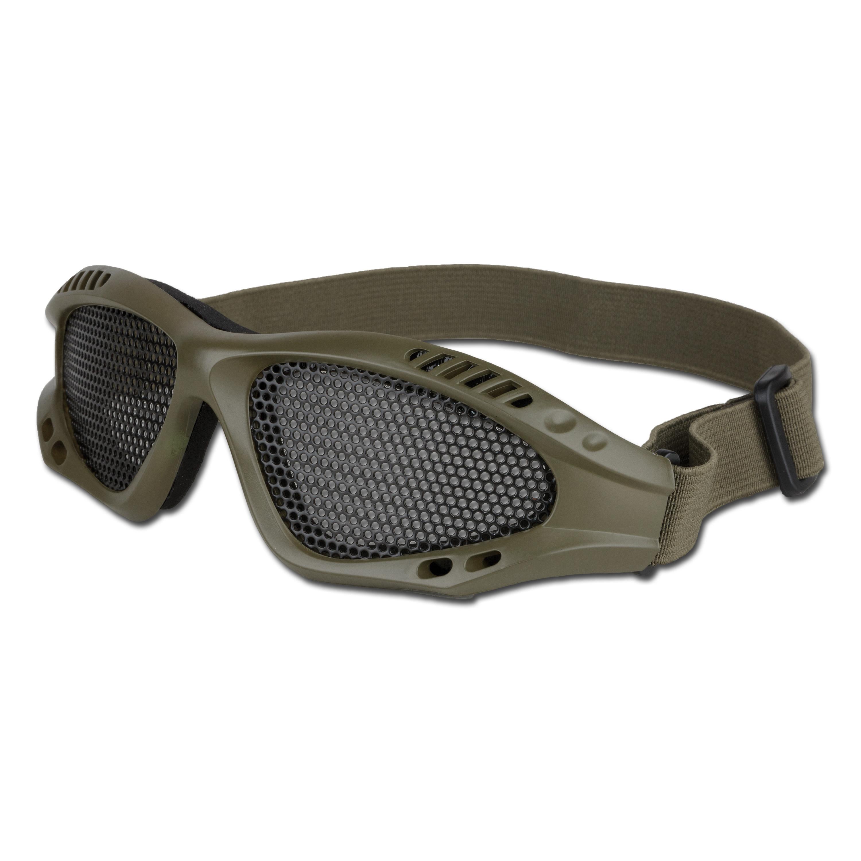 Gafas para Airsoft con inserciones de metal verde oliva