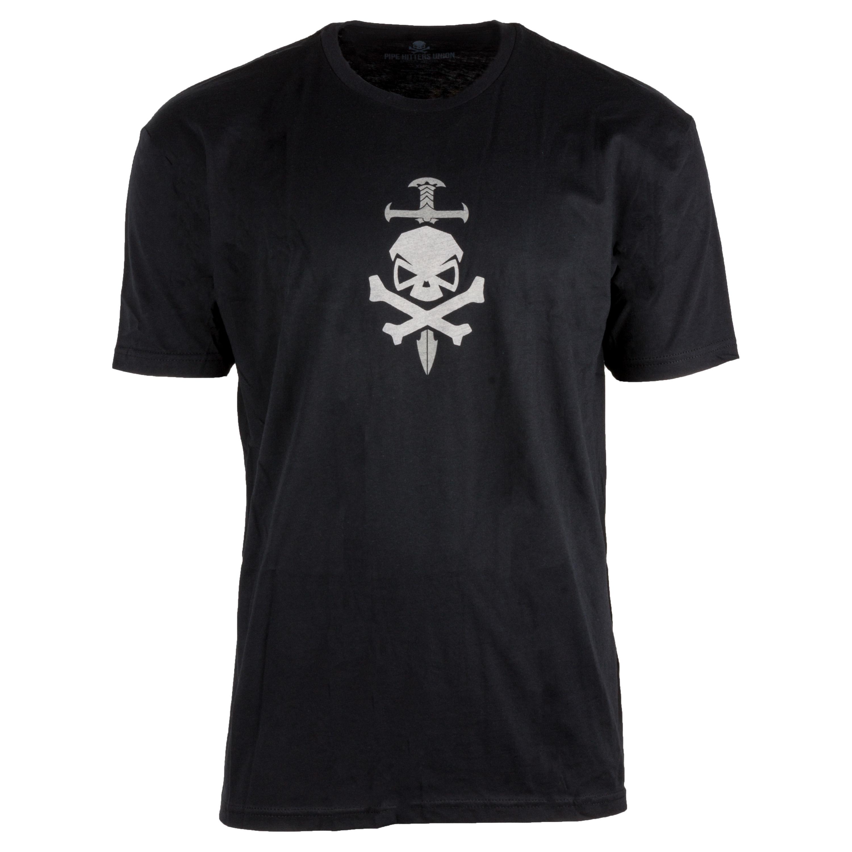Camiseta Pipe Hitters Union People Sleep Peacefully negra
