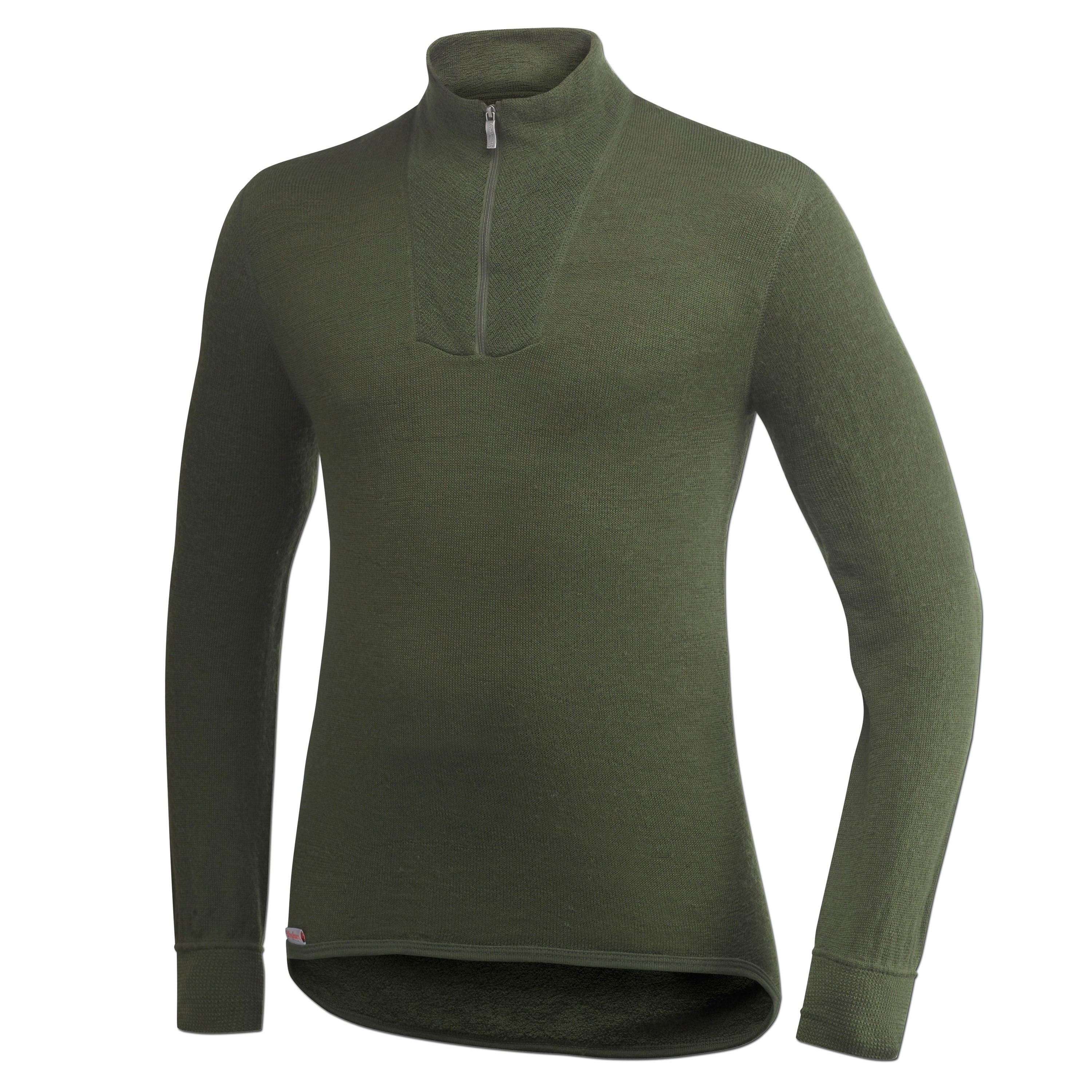 Camiseta Woolpower Turtleneck 200 verde oliva