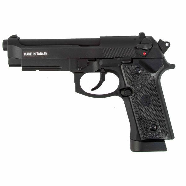 KJ Works Airsoft Pistola M9 Vertec Full Metall GBB Co2 negro