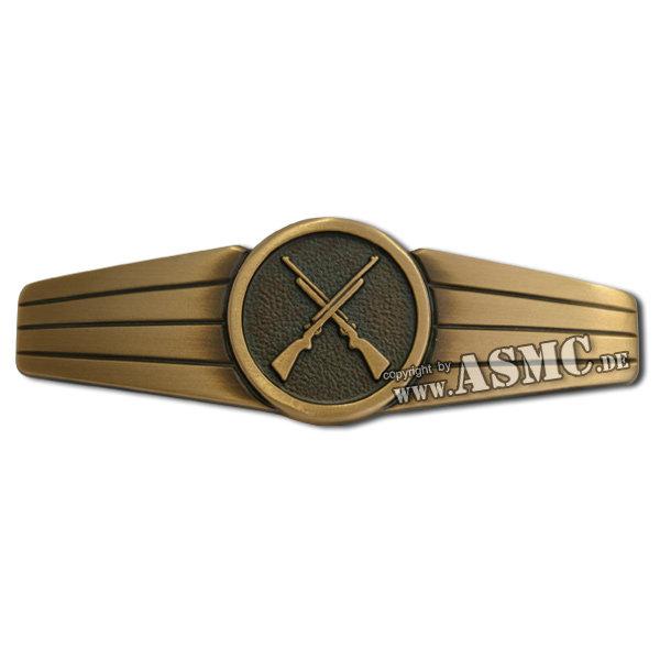 Distintivo BW personal de seguridad metal bronce (nuevo)