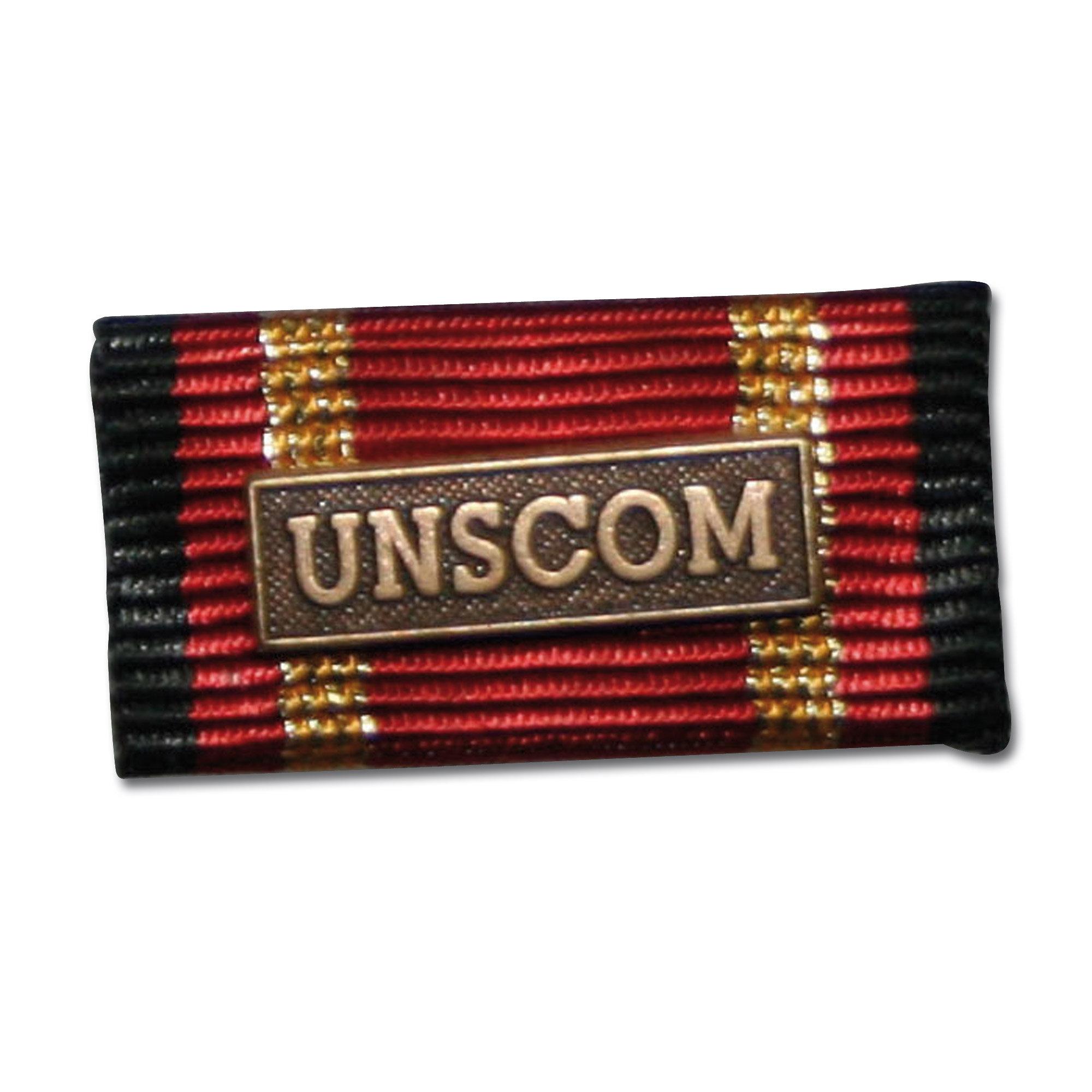 Placa de la orden por misiones en el extranjero UNSCOM bronce