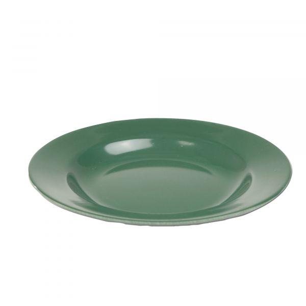 Plato playo de plástico verde oliva