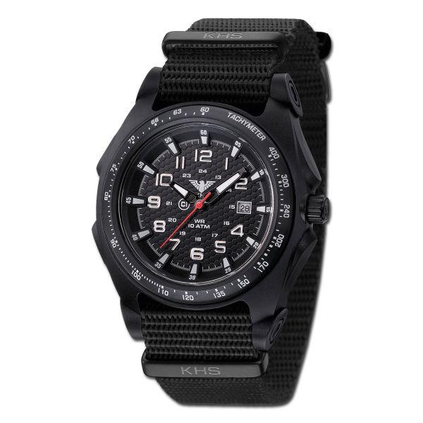 Reloj KHS Sentinel Analog OTAN negro