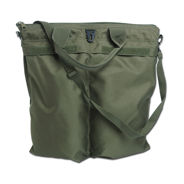 Bolsa para casco con correa verde oliva
