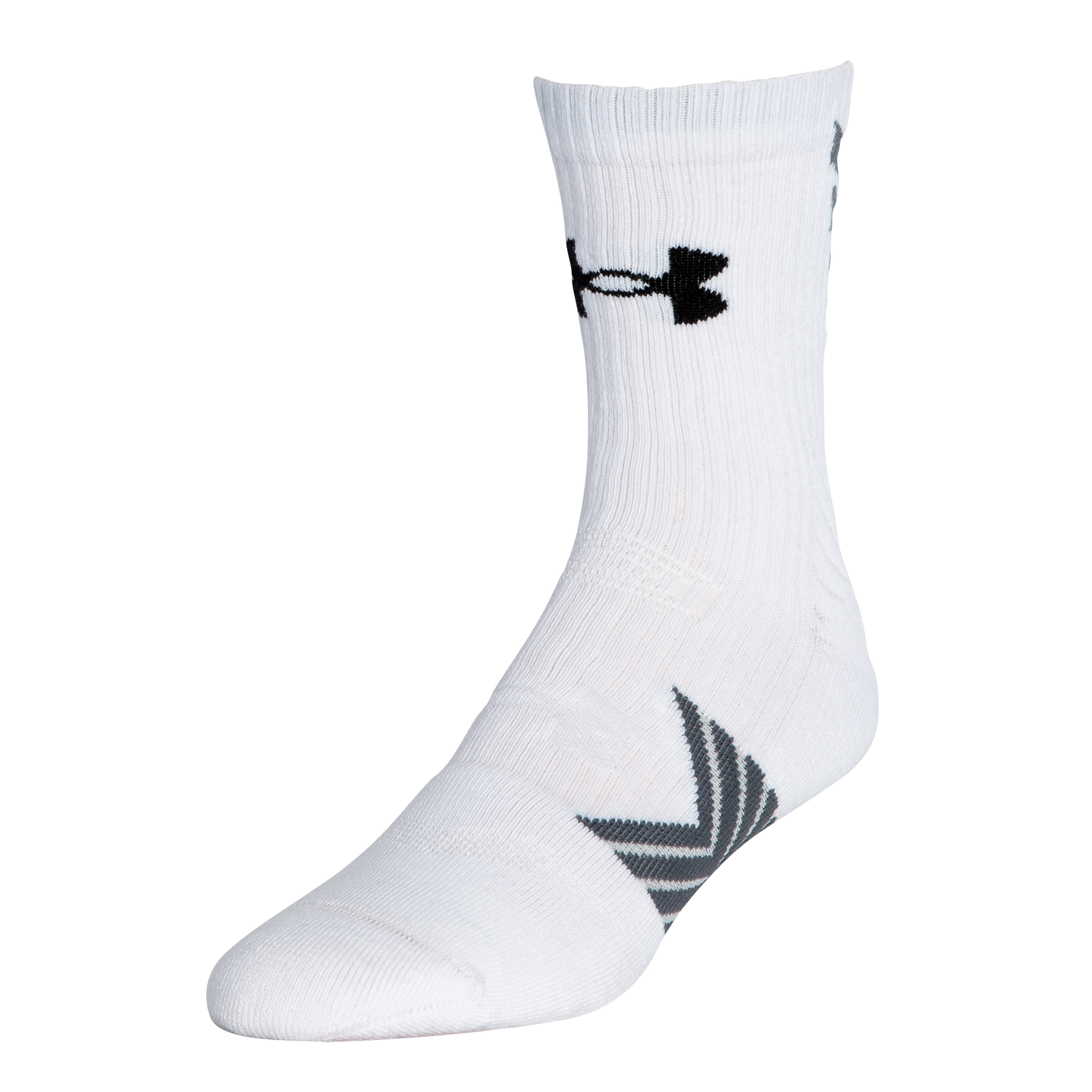 Calcetines Under Armour Undeniable Mid Crew blancos