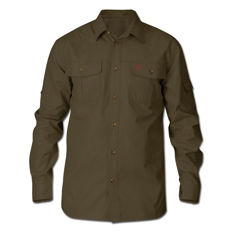 Camisa Fjällräven Sarek Trekking verde oliva