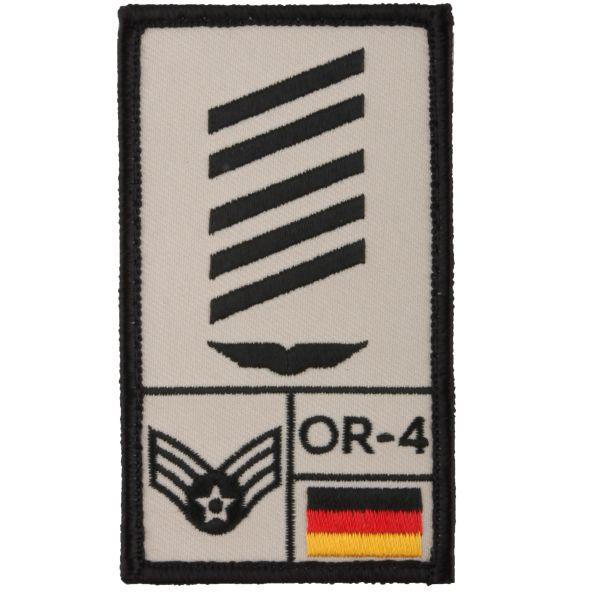 Parche Café Viereck Rank OSG Luftwaffe sand