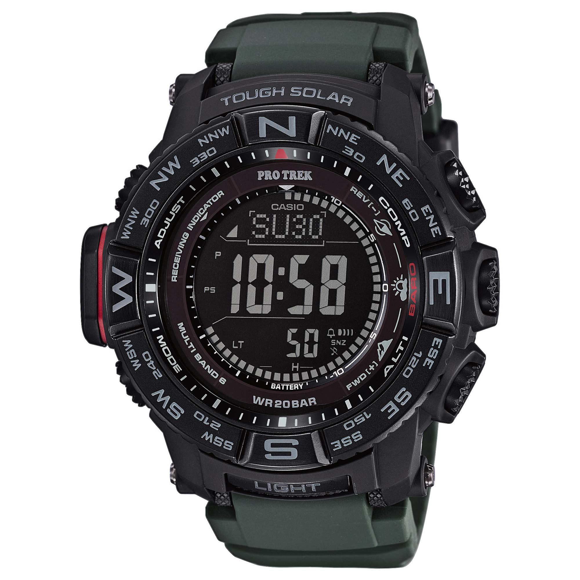 Reloj Casio Pro Trek Monte Rosa PRW-3510Y-8ER negro oliva