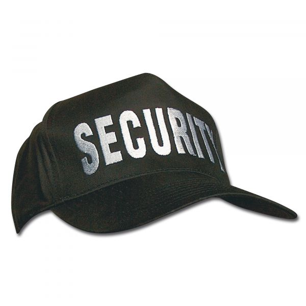 Gorra de béisbol SECURITY negra
