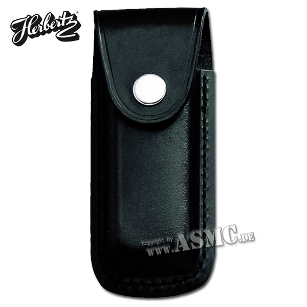 Funda para cuchillo cuero liso negro 11 cm