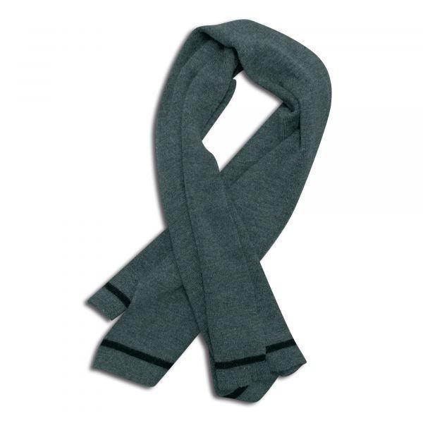 BW Bufanda de lana gris usada