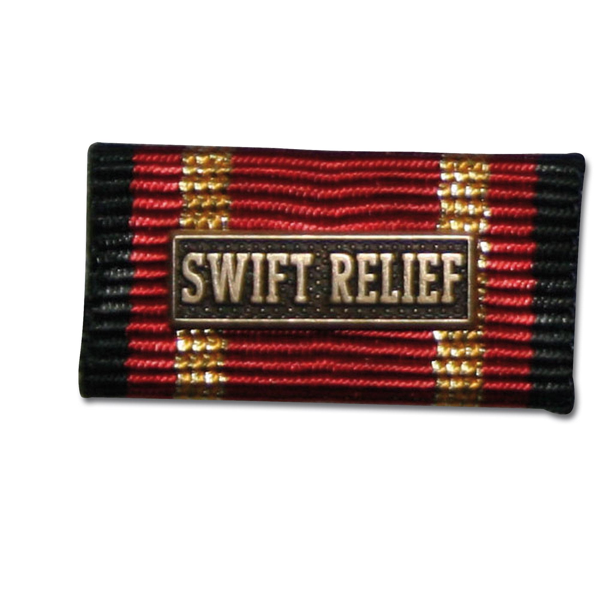 Placa de la orden por misiones en el extranjero SWIFT RELIEF bro