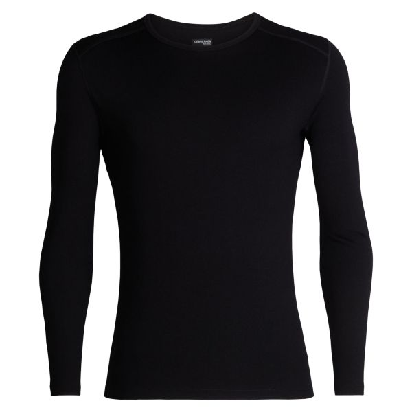 Camiseta Icebreaker Long Sleeve Tech Crewe negra