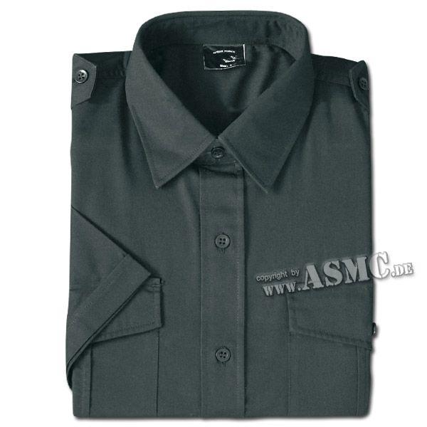 Camisa de servicio mangas cortas negra