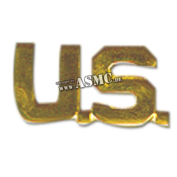 Insignia Kragenspiegel US (Letters) dorado