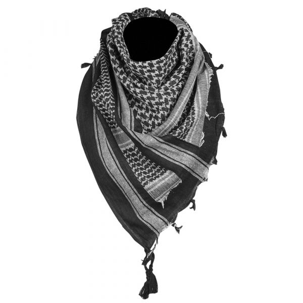 Shemagh Mil-Tec 110x110 cm negro blanco
