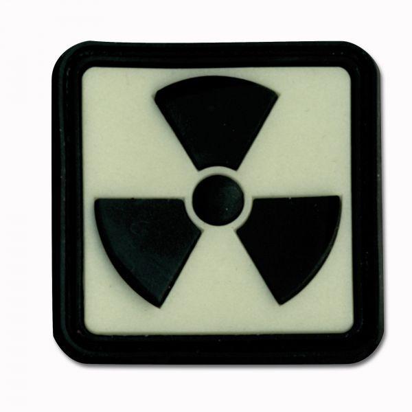 Parche 3D Radioactividad fosforescente invertido