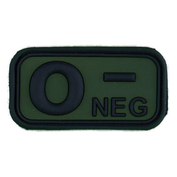Parche 3D 0 Neg negro verde oliva