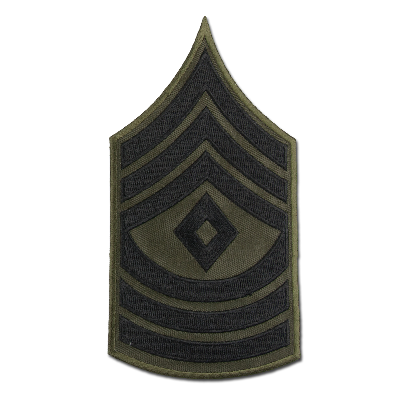 Distintivo de rango US Textil negro First Sergeant