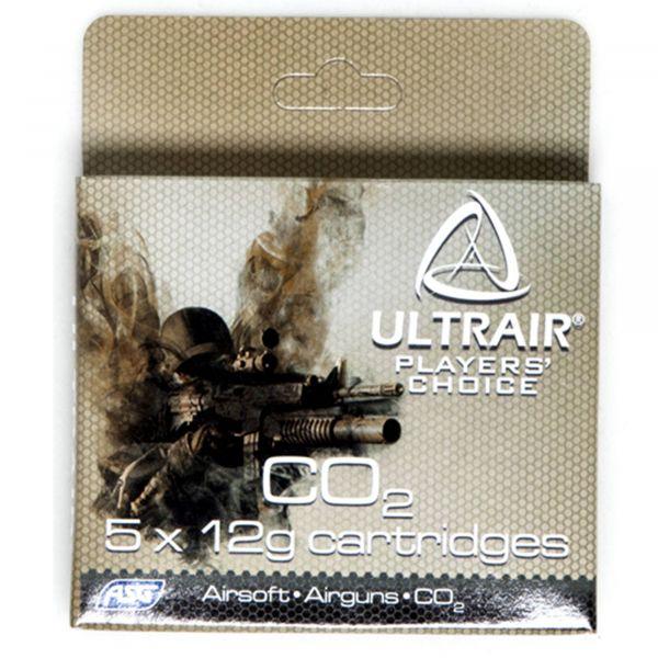 Cápsula ASG Co2 Ultrair 12 g Co2 Cartridge 5 uds.