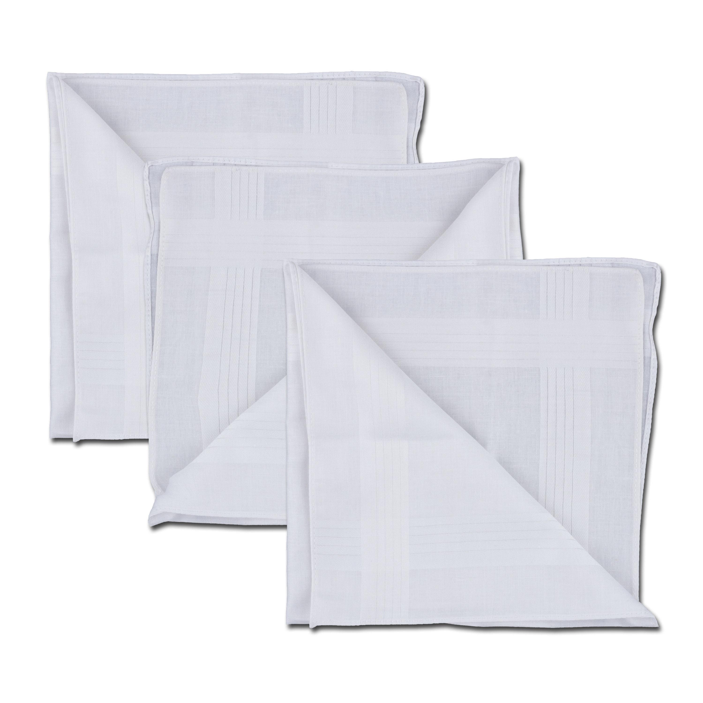 Pañuelo blanco 40 x 40 cm 3 unidades
