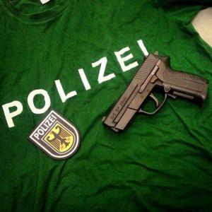 T-shirt with Airsoft Gun