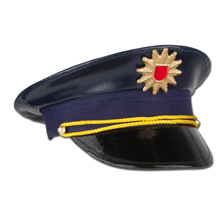 Gorra de policía para niños color azul