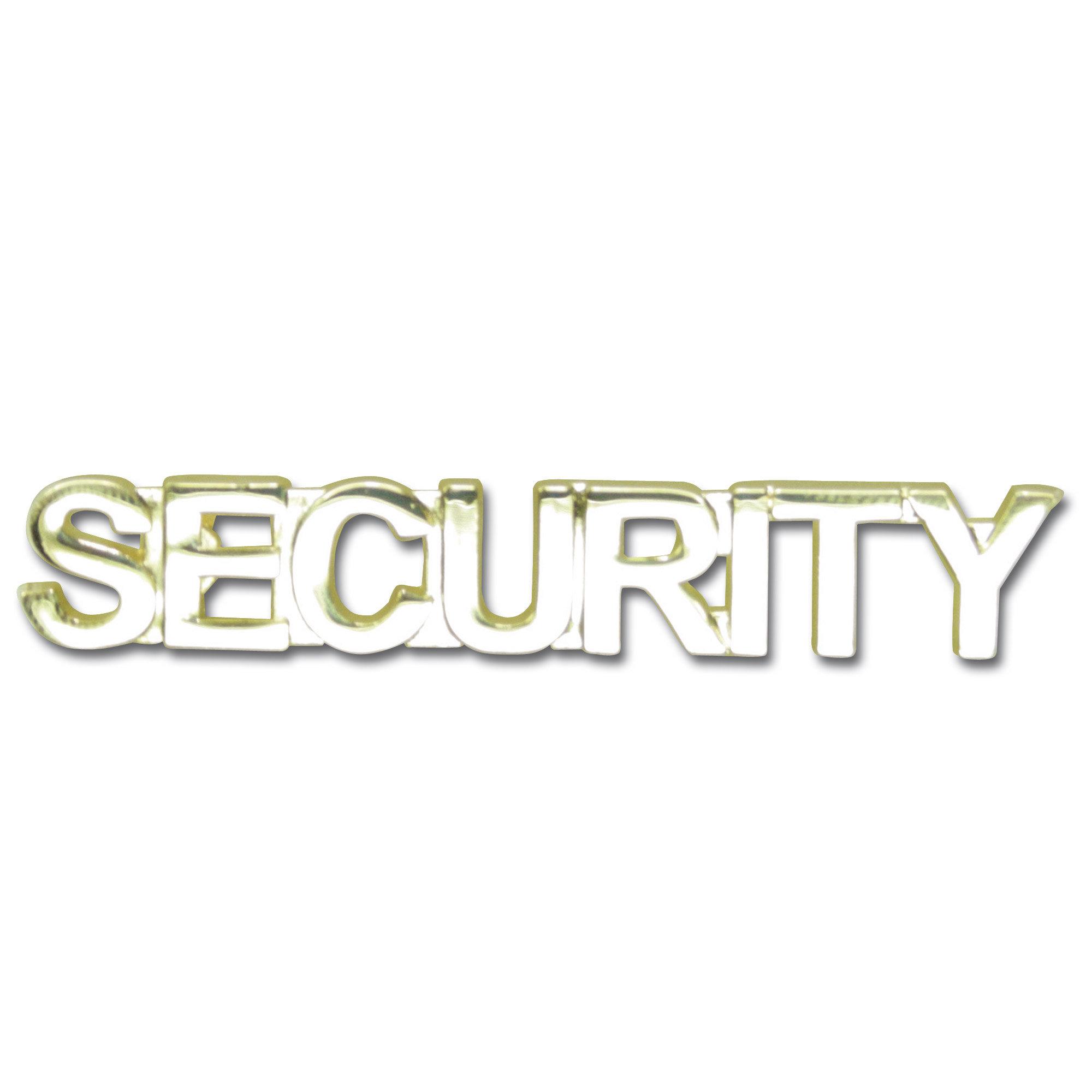 Insignia para la solapa SECURITY dorada