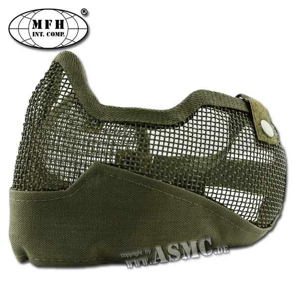 Máscara facial MFH Airsoft verde oliva