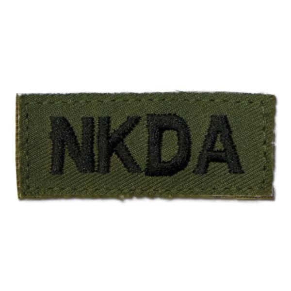 Insignia para ropa NKDA velcro verde oliva