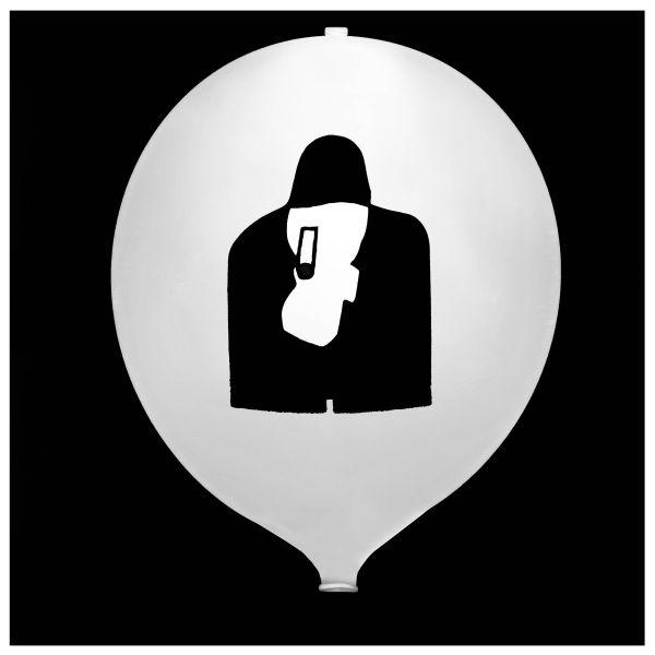 KNIXS Tac Ballon globo blanco LED blanca fija