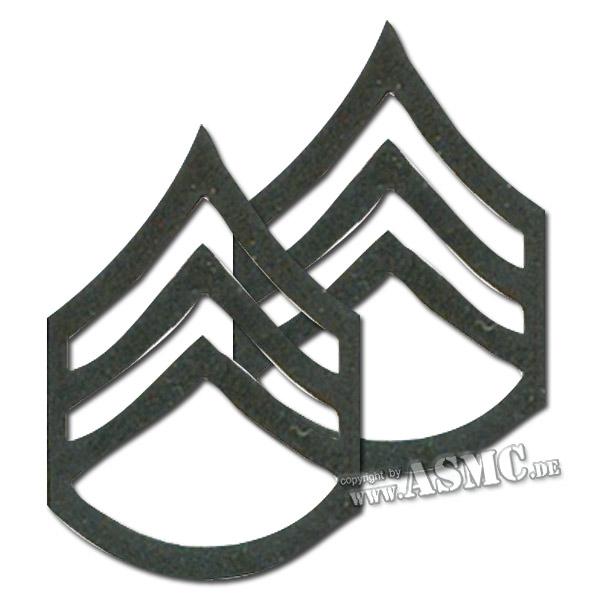 Distintivo de rango de metal US Staff Sergeant subdued