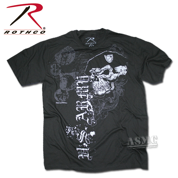 Remera Black Ink Skull with Beret