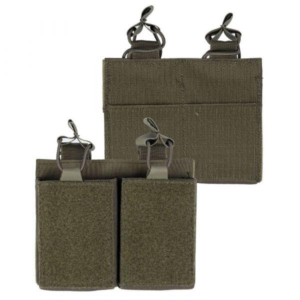 Mil-Tec Portacargador Double con velcro posterior verde oliva