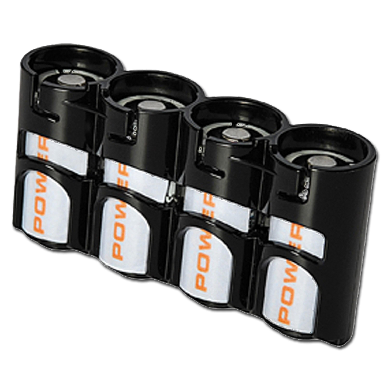 Soporte para baterías Powerpax SlimLine 4 x CR123 negro