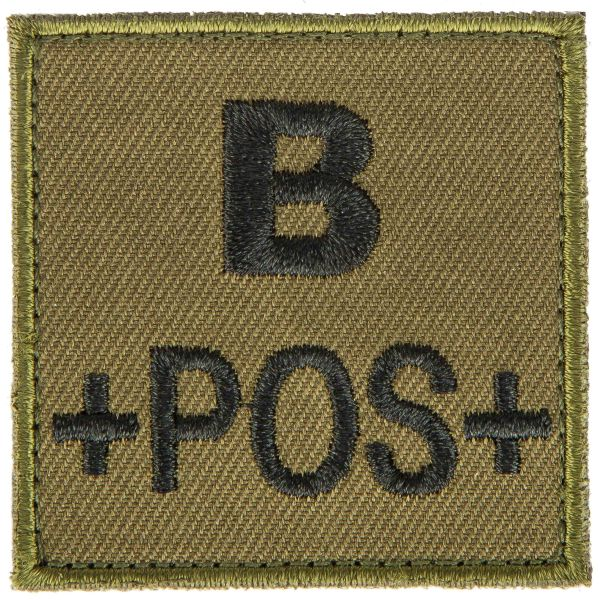 T.O.E Parche grupo sanguíneo B positivo verde