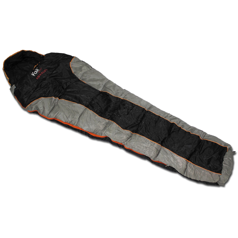 Saco de dormir Fox Outdoor Advance negro/gris